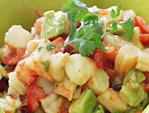 Shrimp and avocodo salad
